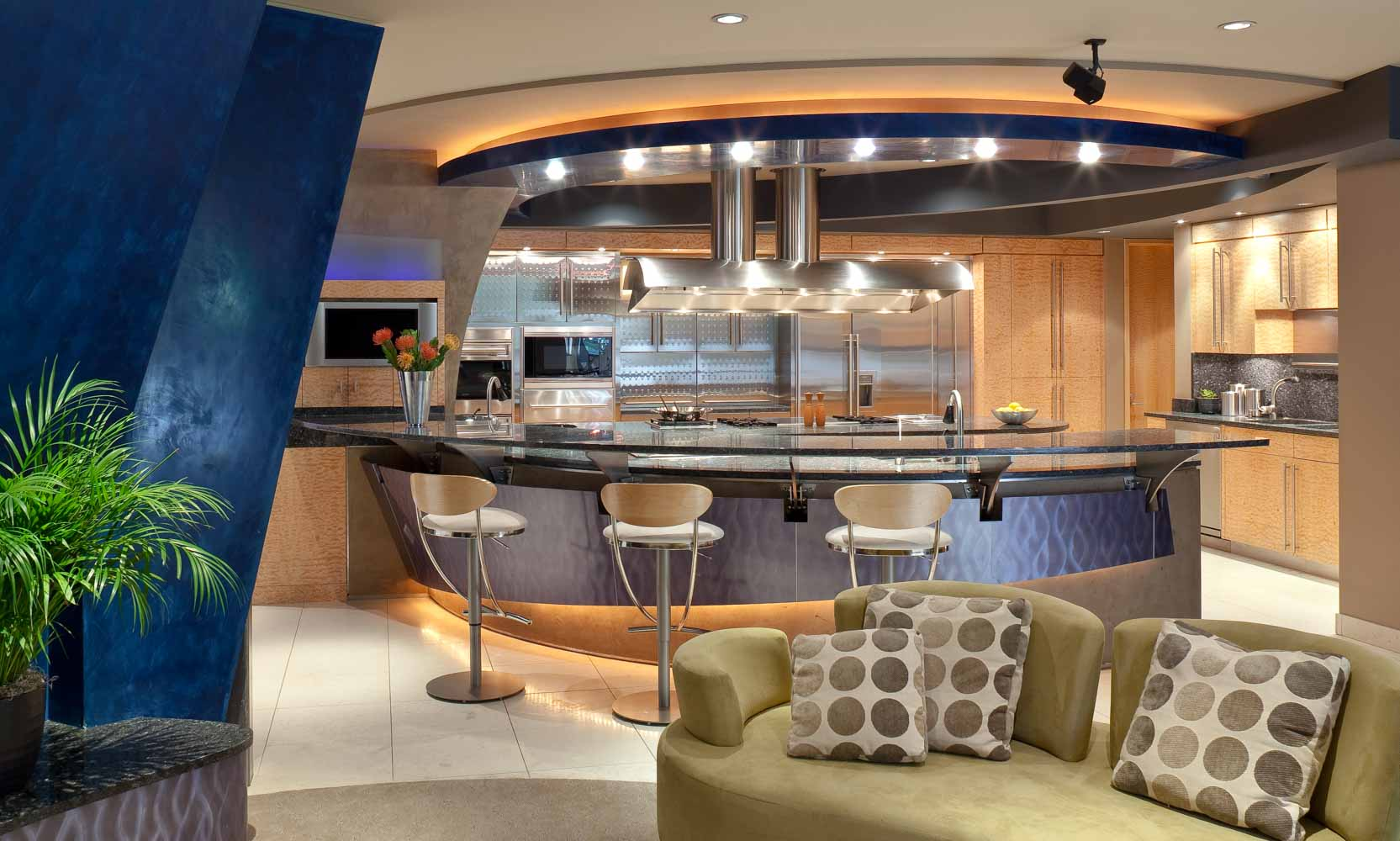 Arteriors Architects Minneapolis Minnesota Ultra Modern High Tech Kitchen
