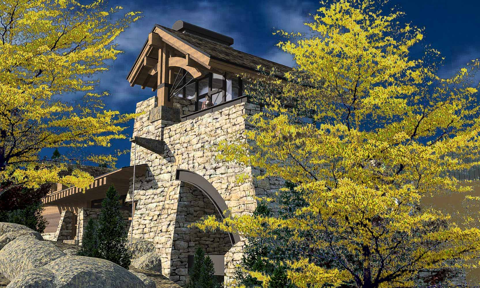 Arteriors Architects Modern Yellowstone Club Mountain Home Tower